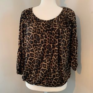 Michael Kors cheetah leapord print blouse medium